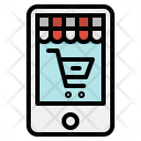 Mobile Shopping Online Icon