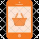 Mobile Shopping Basket Icon