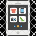 Mobile Shopping Ecommerce Online Shopping Icon