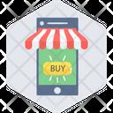 Mobile Shopping Shopping App Buy Online Icon