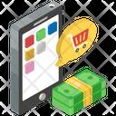 Mobile Shopping App Eshopping Mcommerce Icon