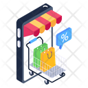 Shopping Discount Mcommerce Online Shopping Icon