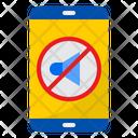 Mobile Silent Mute No Sound Icon