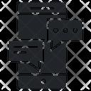 Mobile SMS Icon