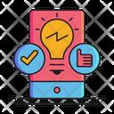 Mobile Solutions Online Solution App Development Icon