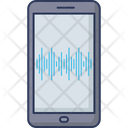 Mobile Sound Wave Music Beat Sound Wave Icon