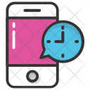 Mobile Speaking Clock Icon
