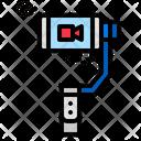 Mobile Stick Stabilizer Stick Icon