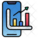 Mobile Stock Chart Chart Graph Icon