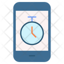 Mobile Stopwatch Icon