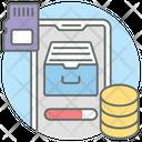 Data Download Database Data Storage Icon