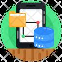 Mobile Database Mobile Storage Mobile Folder Icon
