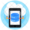 Cloud Mobile Mobile Storage Mobile Database Icon