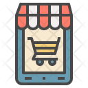 Mobile Store Shopping Icon