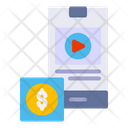 Mobile Streaming Mobile Video Online Streaming Icon