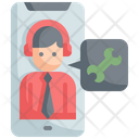 Mobile Support Online Icon