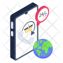 247 Services Mobile Support Customer Services Icon