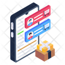 Mobile Support Chat Shopping Conversation Shopping App Icon