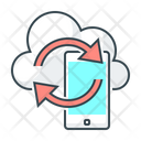 Mobile Sync Mobile Cloud Icon
