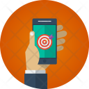 Mobile Target Reach Icon