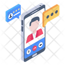 Online Teacher Mobile Learning Mobile Teacher Icon