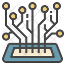 Mobile Technology Circuit Icon
