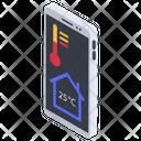 Mobile Temperature App Icon