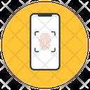 Mobile Lock Biometry Mobile Thumbprint Icon
