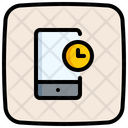 Mobile Time Mobile Phone Time Icon