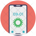 Mobile Time Setting Icon