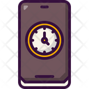 Mobile Time Zone Mobile Time Zone Icon