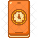 Mobile Time Zone Icon
