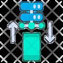 Mobile  To Server Icon