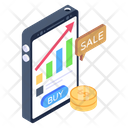 Business Growth Mobile Trading Mobile Analytics Icon