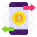 Mobile Transaction Online Money Flow Ebanking Icon