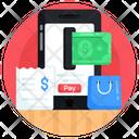 E Shopping Online Shopping Mobile Shopping Icon