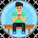 Man Using Mobile Mobile User Phone User Icon