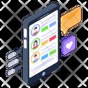 Mobile Profiles Mobile User Accounts User Profiles Icon
