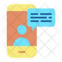 Mobile User Chat Icon