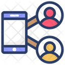 Mobile Users Mobile Phone Communication Icon