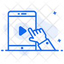 Mobile Video Online Video Video Streaming Icon