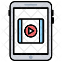 Mobile Video Streaming Icon