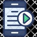 Mobile Video Content Icon