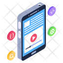 Mobile Video Online Video Smartphone Video Icon