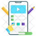 Mobile Video Lecture Online Tutorials Video Tutorials Icon
