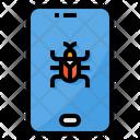 Virus Smartphone Bug Icon