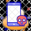 Mobile Phone Skull Icon