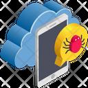 Cloud Computing Virus Icon