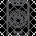 Mobile Virus Mobile Bug Smartphone Pathogen Icon