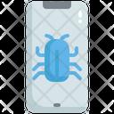Mobile Virus Warning Mobile Bug Error Mobile Virus Icon